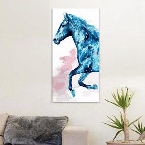 Blue horse (40cm x 80cm)