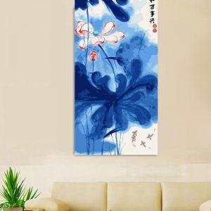 Blue oriental painting (40cm x 80cm)