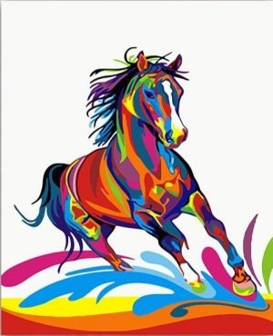 Colorful Horse Stalling