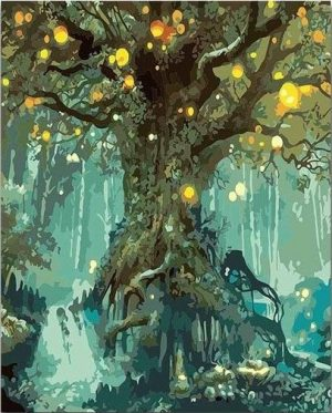 Fireflies around the Old Oak Tree