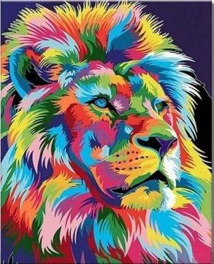 Colorful Lion Side