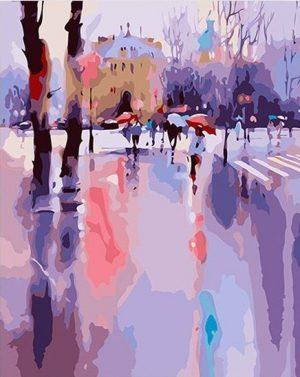 Snowy Day by Viktoria Prischedko
