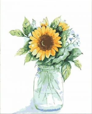 Sunflowers in Simple Vase