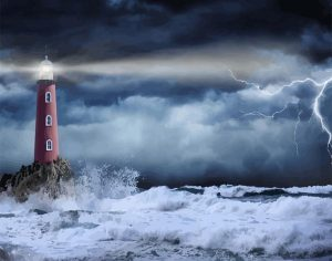 Lighthouse against the Storm