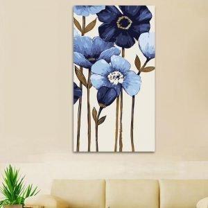 Simple Blue Florals (40cm x 80cm)