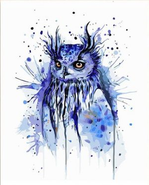 Abstract Blue Owl