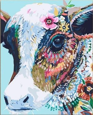 Abstract Colorful Cow