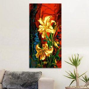 Yellow florals (40cm x 80cm)