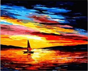 Sailing against a Magnificent Sunset