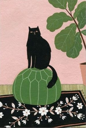Cats & Plants by Yelena Bryksenkova
