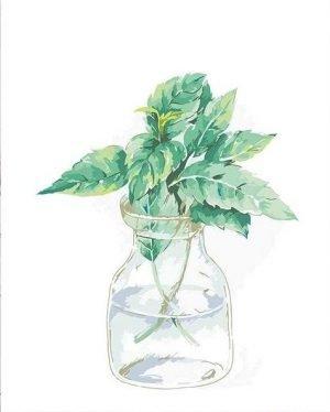Leaves in a Simple Vase