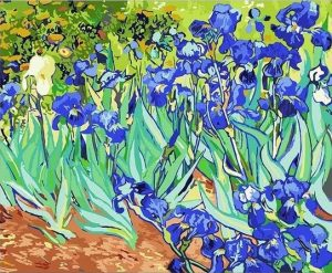Irises in the Garden (1890) by Vincent Van Gogh