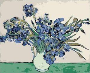 Irises in Vase (1890) by Vincent Van Gogh