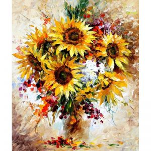 Happy Sunflowers by Leonid Afremov