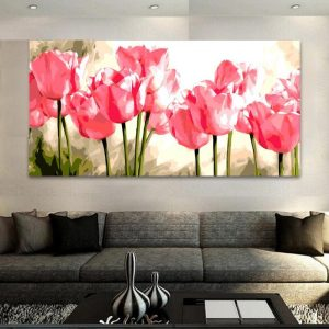 Pink tulips (50cm x 100cm)