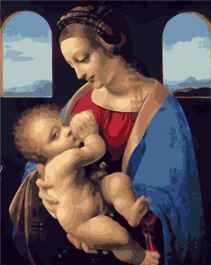 Madonna Litta (1490) by Leonardo da Vinci