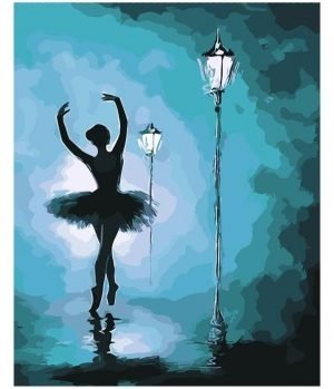 Abstract Ballerina in the Moonlight