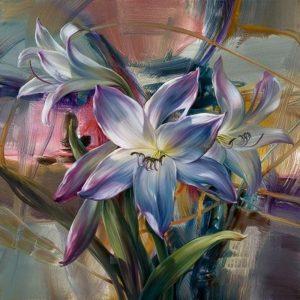 Purple Lilies by Vie Dunn-Harr
