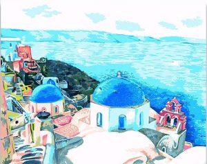 Santorini City in Greece