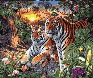 Tiger family in the Forest